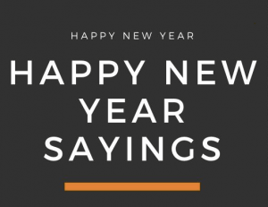 Happy New Year 2021 Sayings